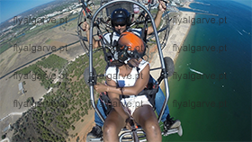 fly-paragliding with motor-over algarve beach